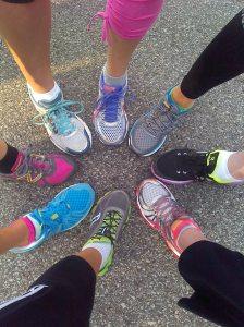 Nice shoes, ladies.